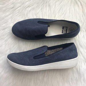 Fit flop blue denim Superskate Sneakers size 11